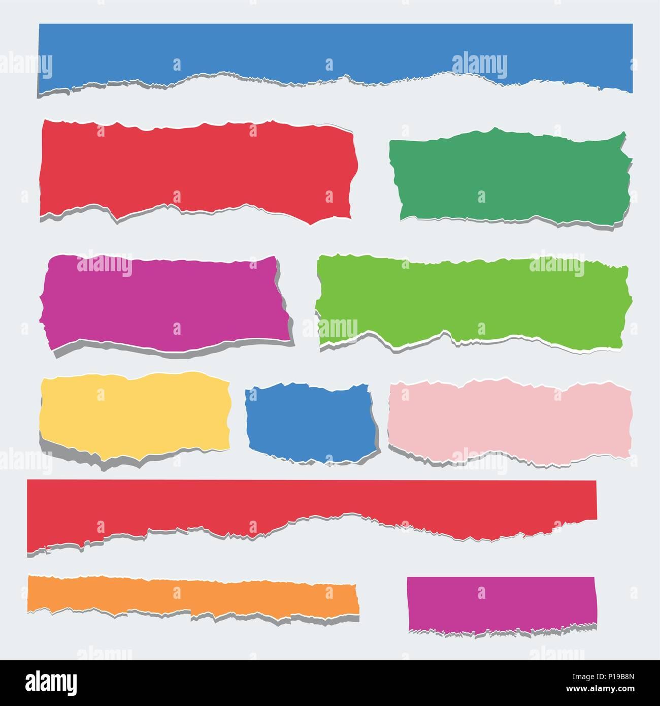 Scrap paper color set - Stock Vector