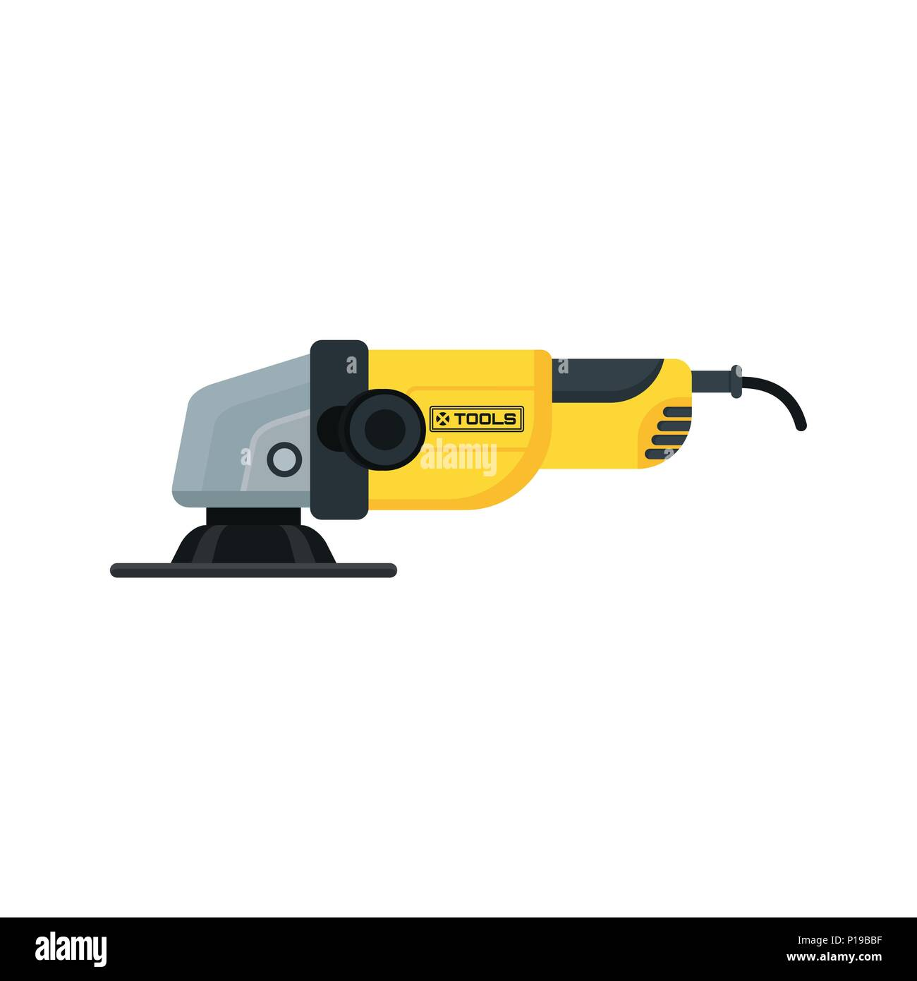 power tools angle grinder icon - Stock Vector