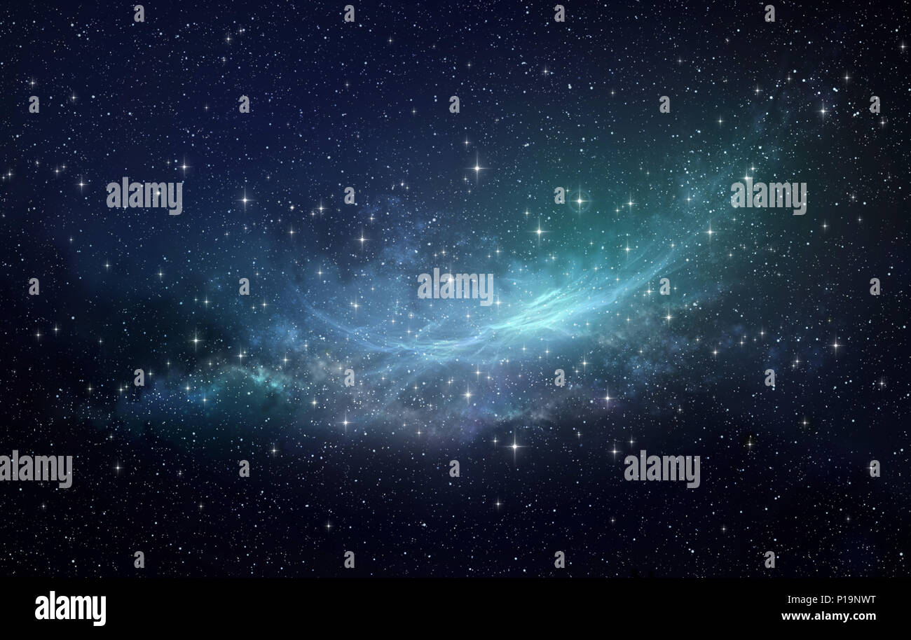 Star clusters, nebula and galaxies. Deep space background in high resolution. - Stock Image