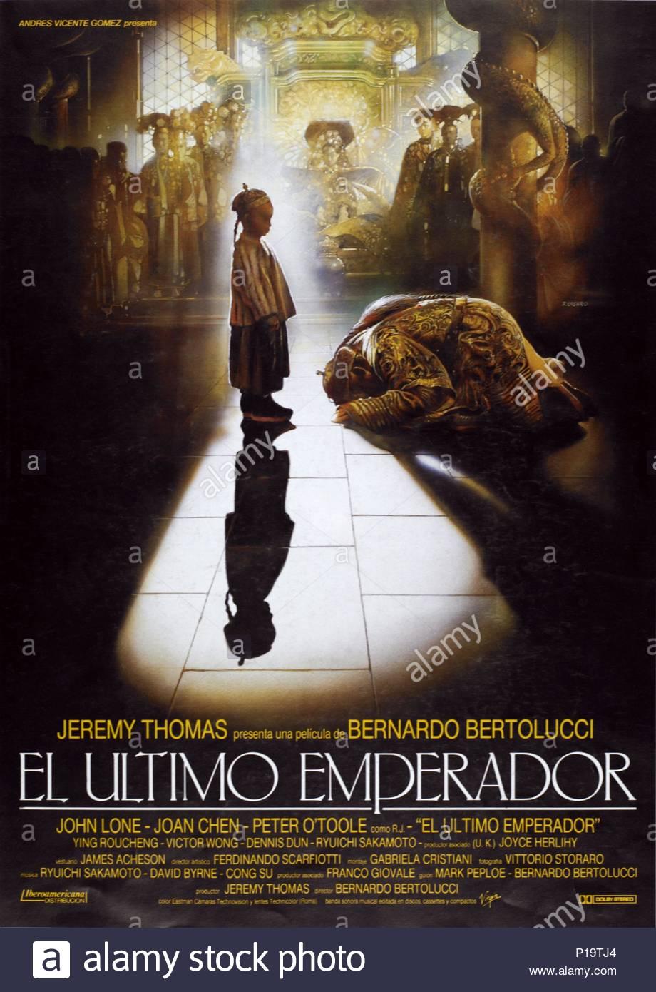 4d8d2bc1a4 Original Film Title  THE LAST EMPEROR. English Title  THE LAST EMPEROR. Film