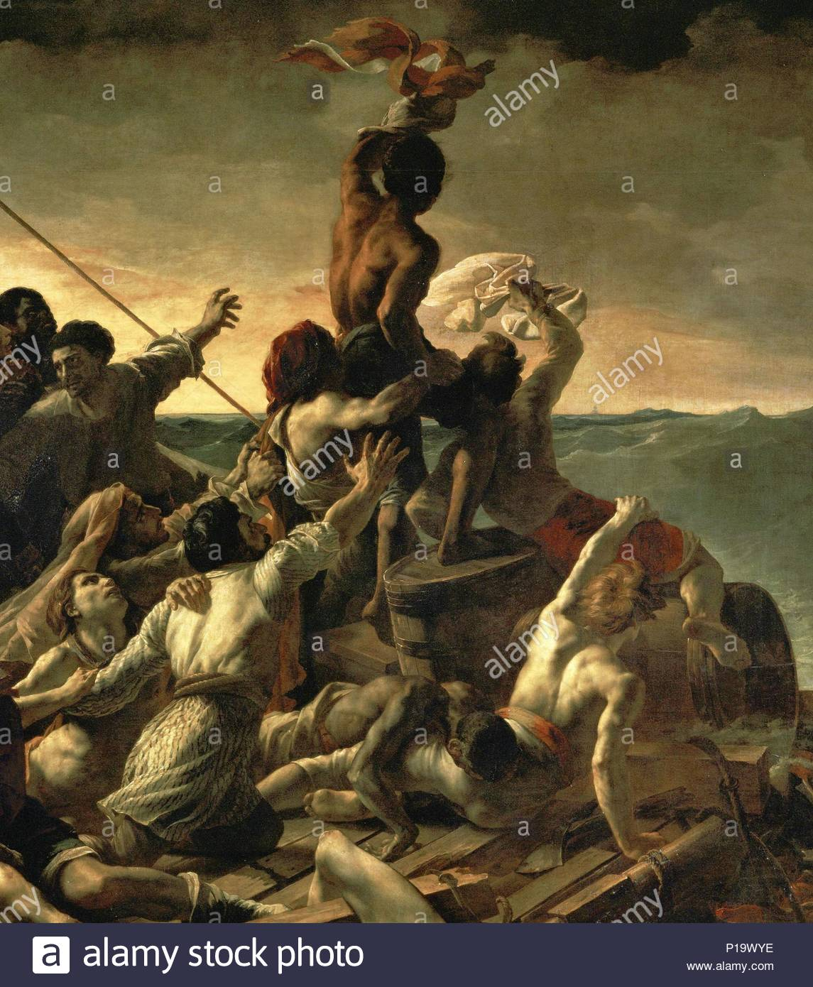 the raft of the medusa painting after a then well known