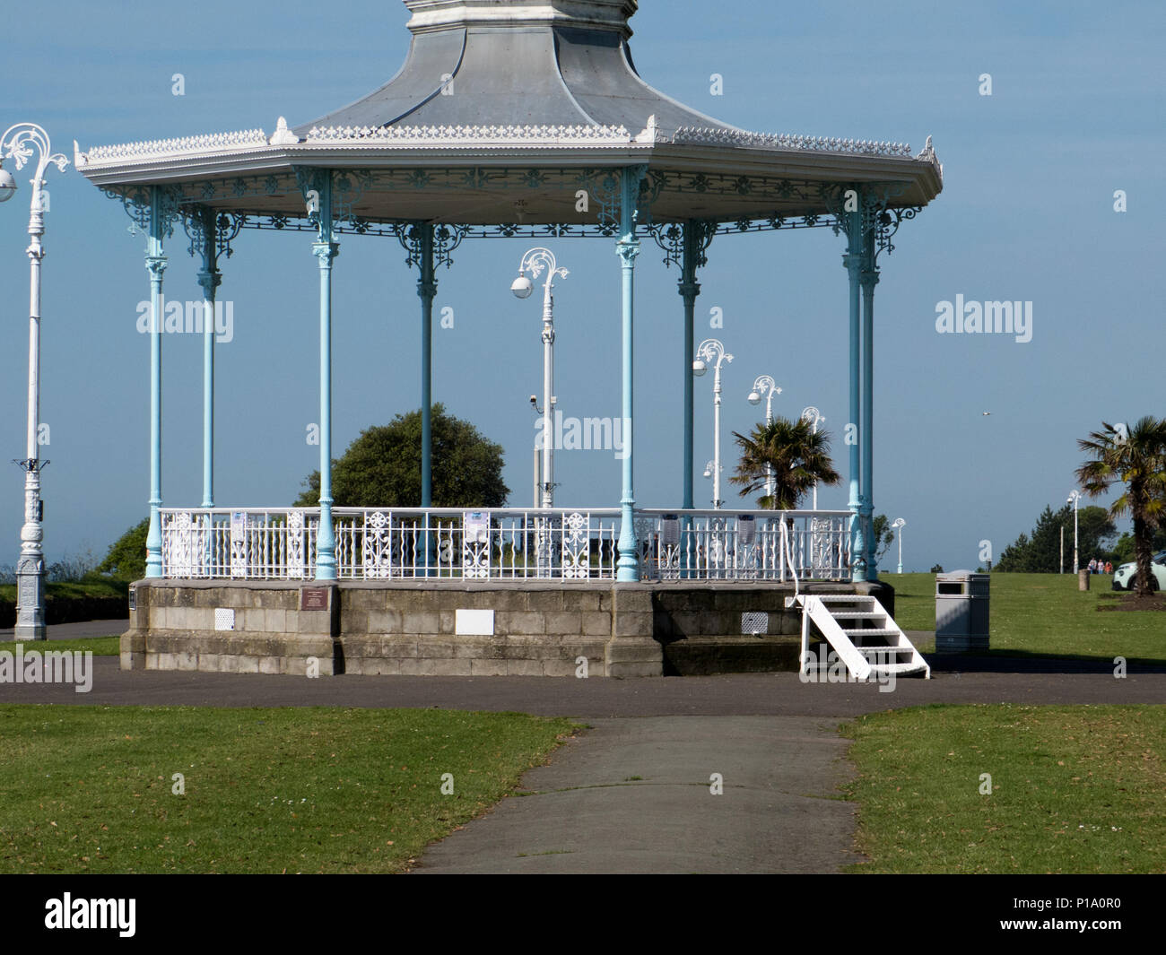 The Bandstand at the Leas Folkestone - Stock Image