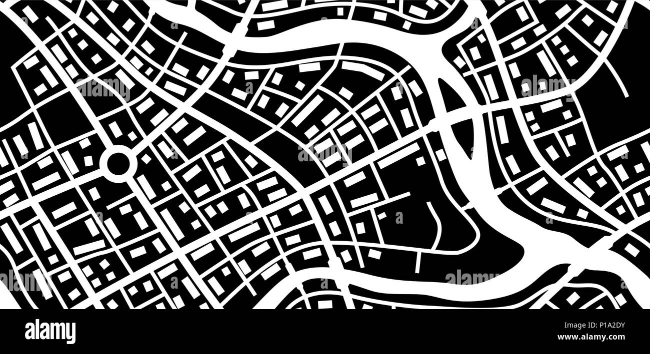 Abstract city map banner. - Stock Image