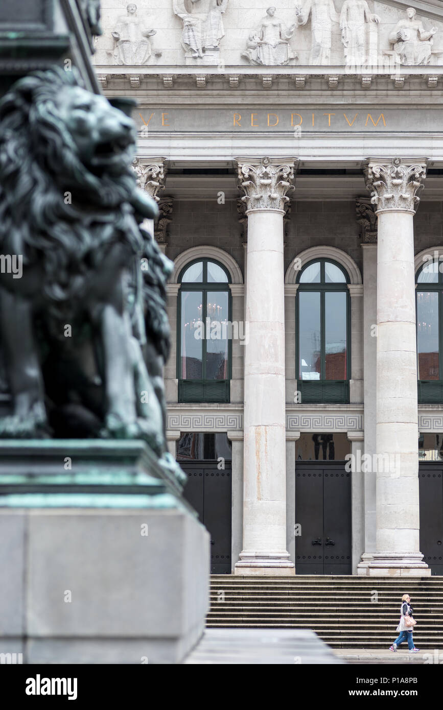 Muenchen, Germany, Detail of the portal of the National Theater - Stock Image