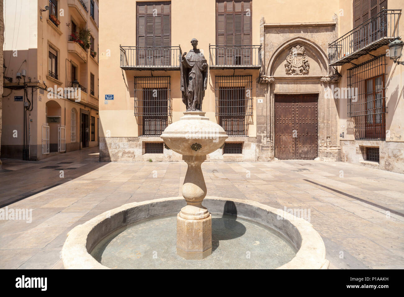 City center,square, plaza Sant Lluis Bertran. - Stock Image