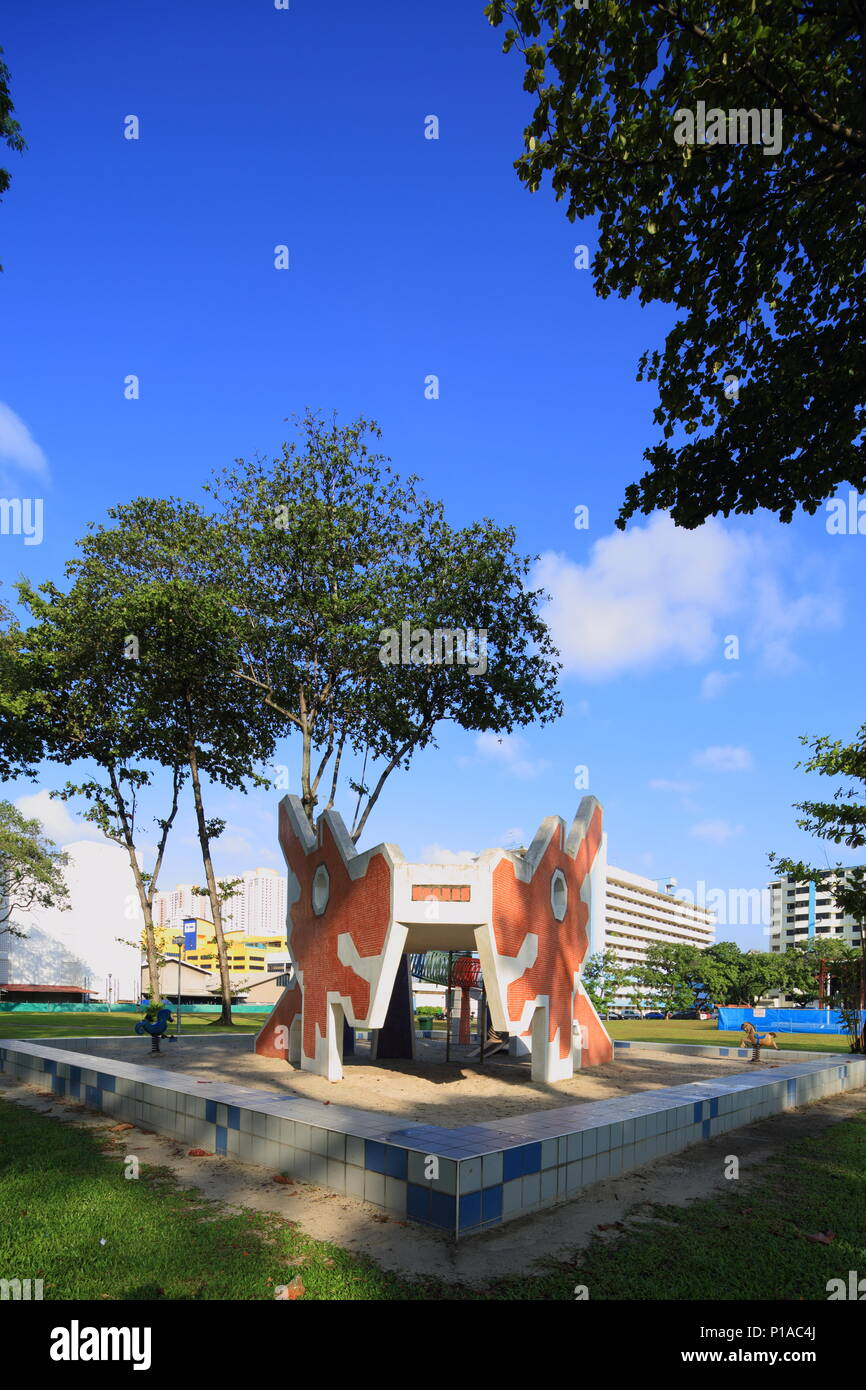 A dragon design playground at Toa Payoh, Singapore - Stock Image