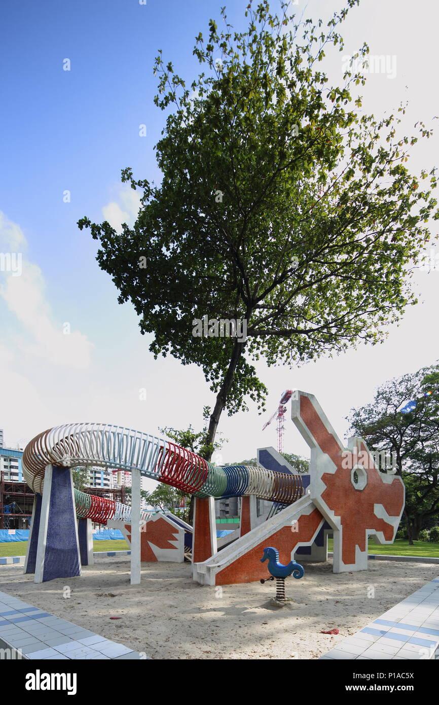 A dragon design playground at Toa Payoh, Singapore - Stock Image