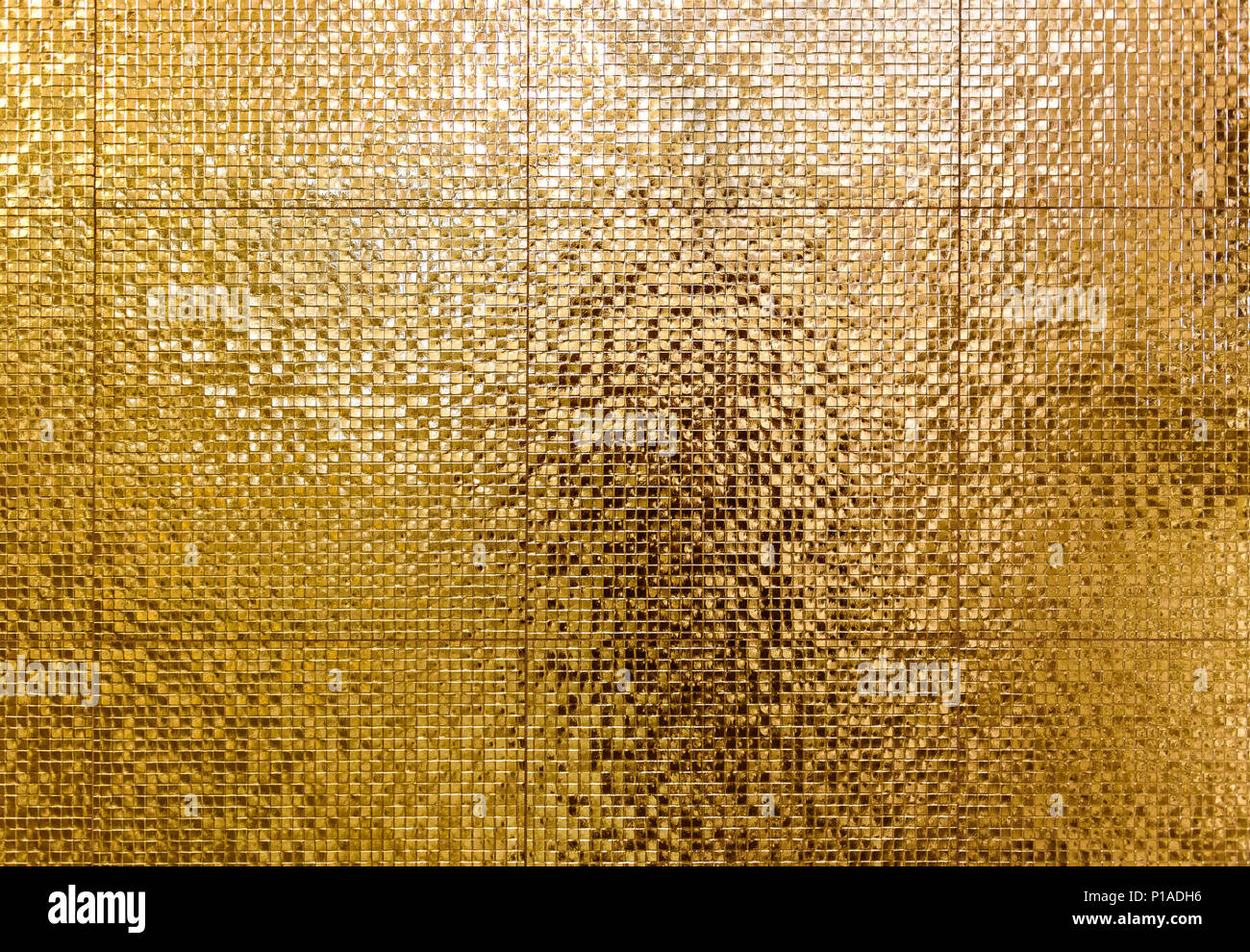 Luxury gold mosaic tiles background for bathroom or toilette texture ...