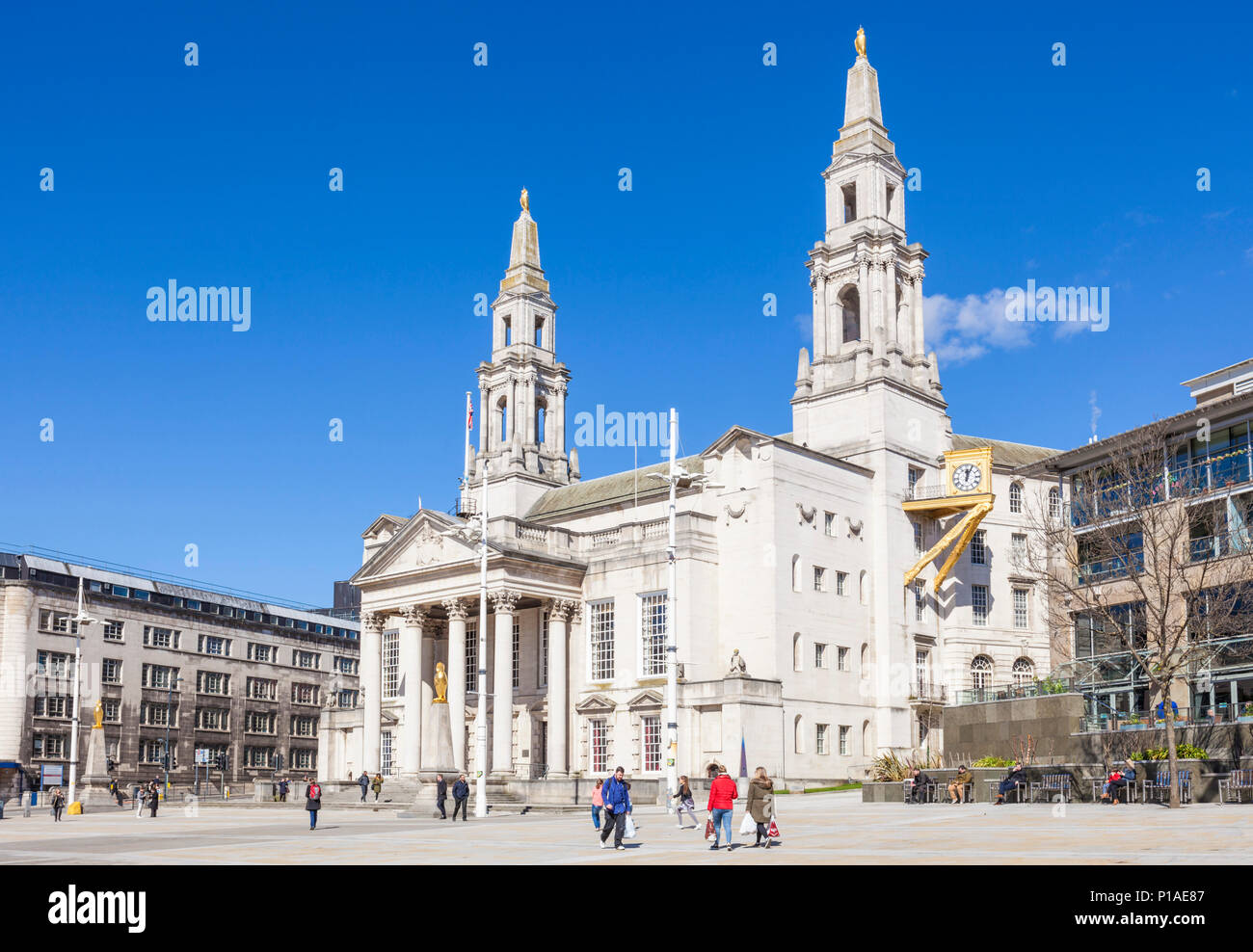 yorkshire england leeds yorkshire england leeds civic hall housing  leeds city council offices leeds city centre yorkshire england uk gb europe - Stock Image