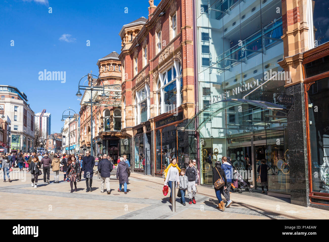 yorkshire england leeds yorkshire england Briggate leeds city centre harvey nichols department store biggate leeds yorkshire uk gb europe - Stock Image