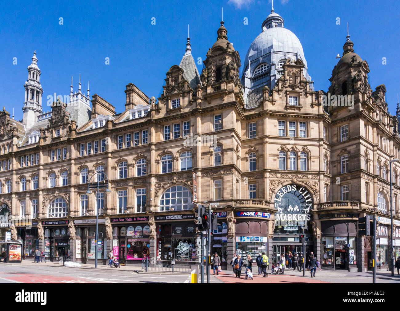 yorkshire england leeds yorkshire england leeds city markets kirkgate market indoor market kirkgate leeds city centre leeds yorkshire uk gb europe - Stock Image