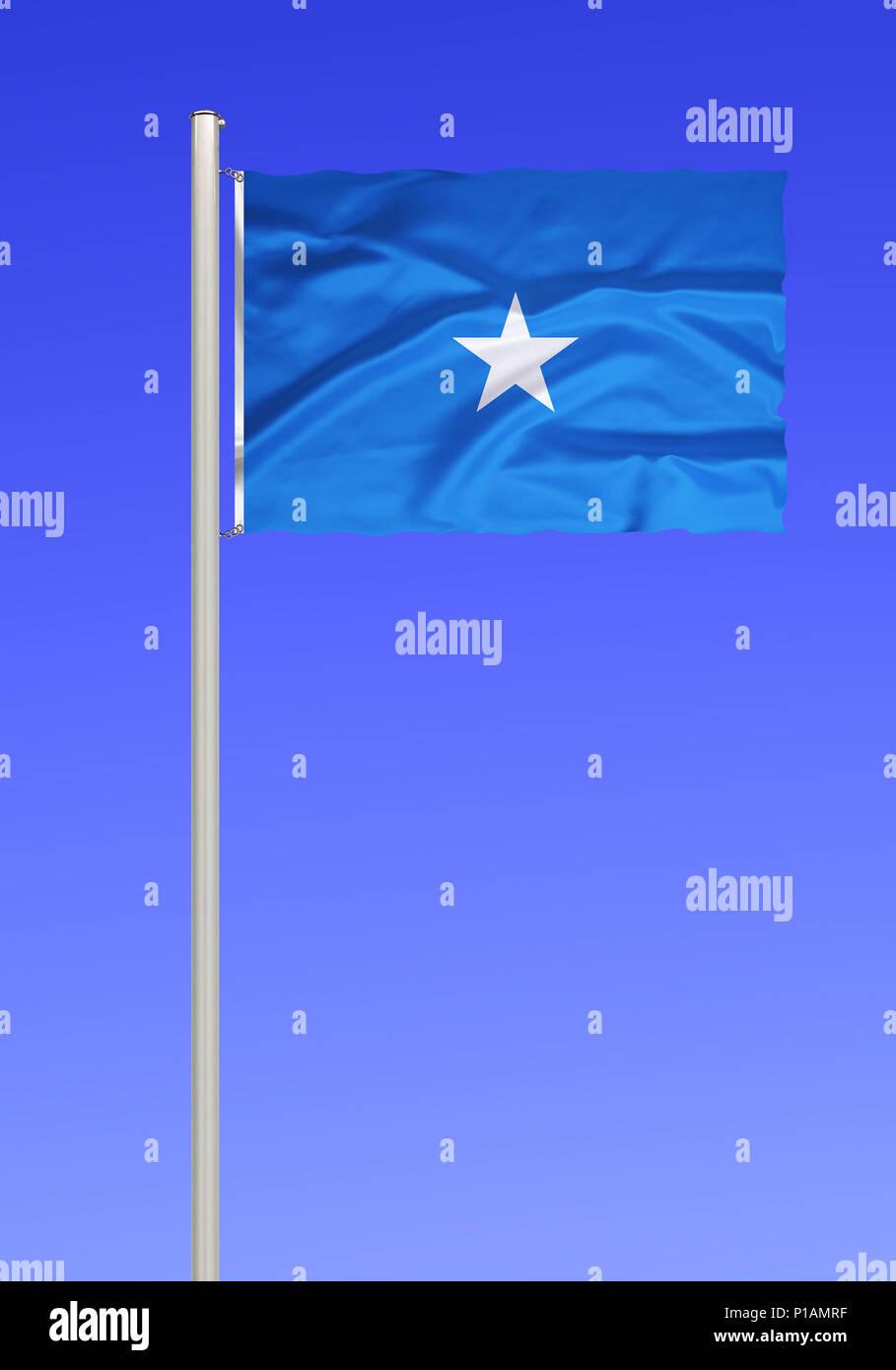 Flag of Somalia, East Africa, Africa, Flagge von Somalia, Ostafrika, Afrika - Stock Image