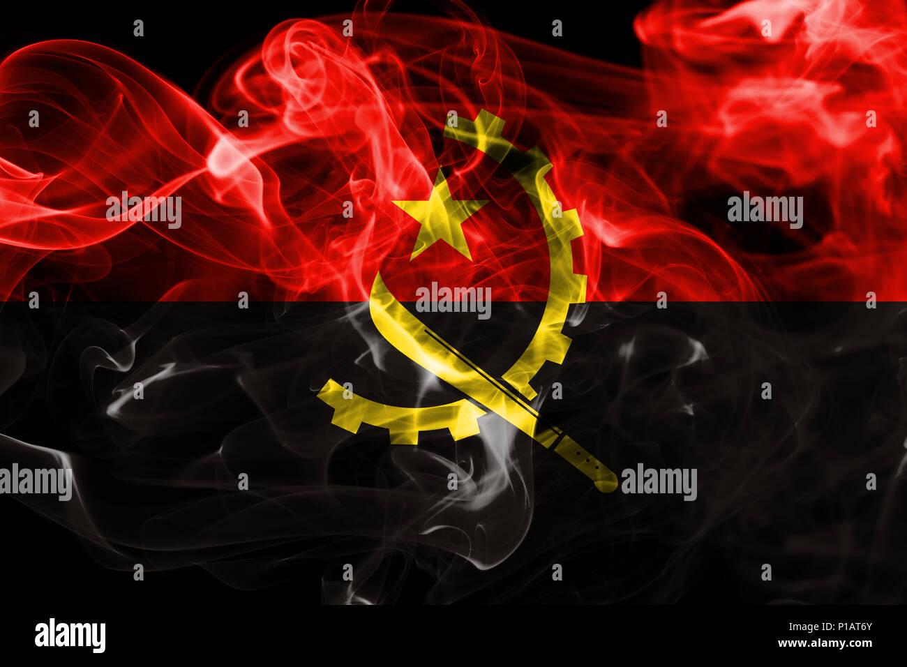Angola smoke flag Stock Photo
