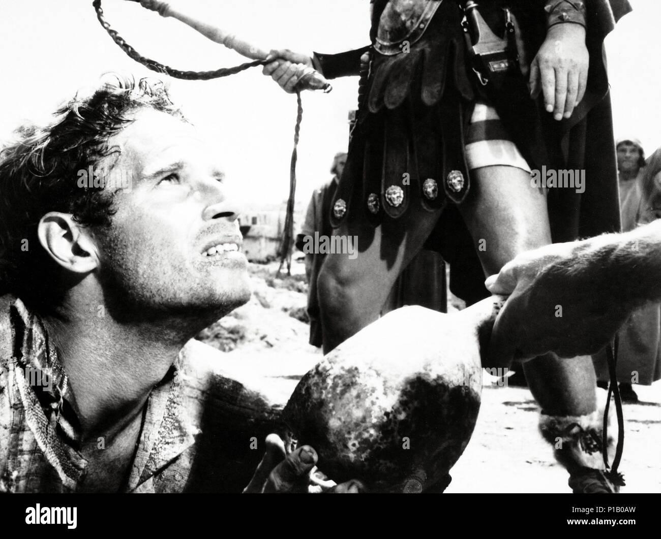 Original Film Title: BEN-HUR.  English Title: BEN-HUR.  Film Director: WILLIAM WYLER.  Year: 1959.  Stars: CHARLTON HESTON. Credit: M.G.M. / Album - Stock Image