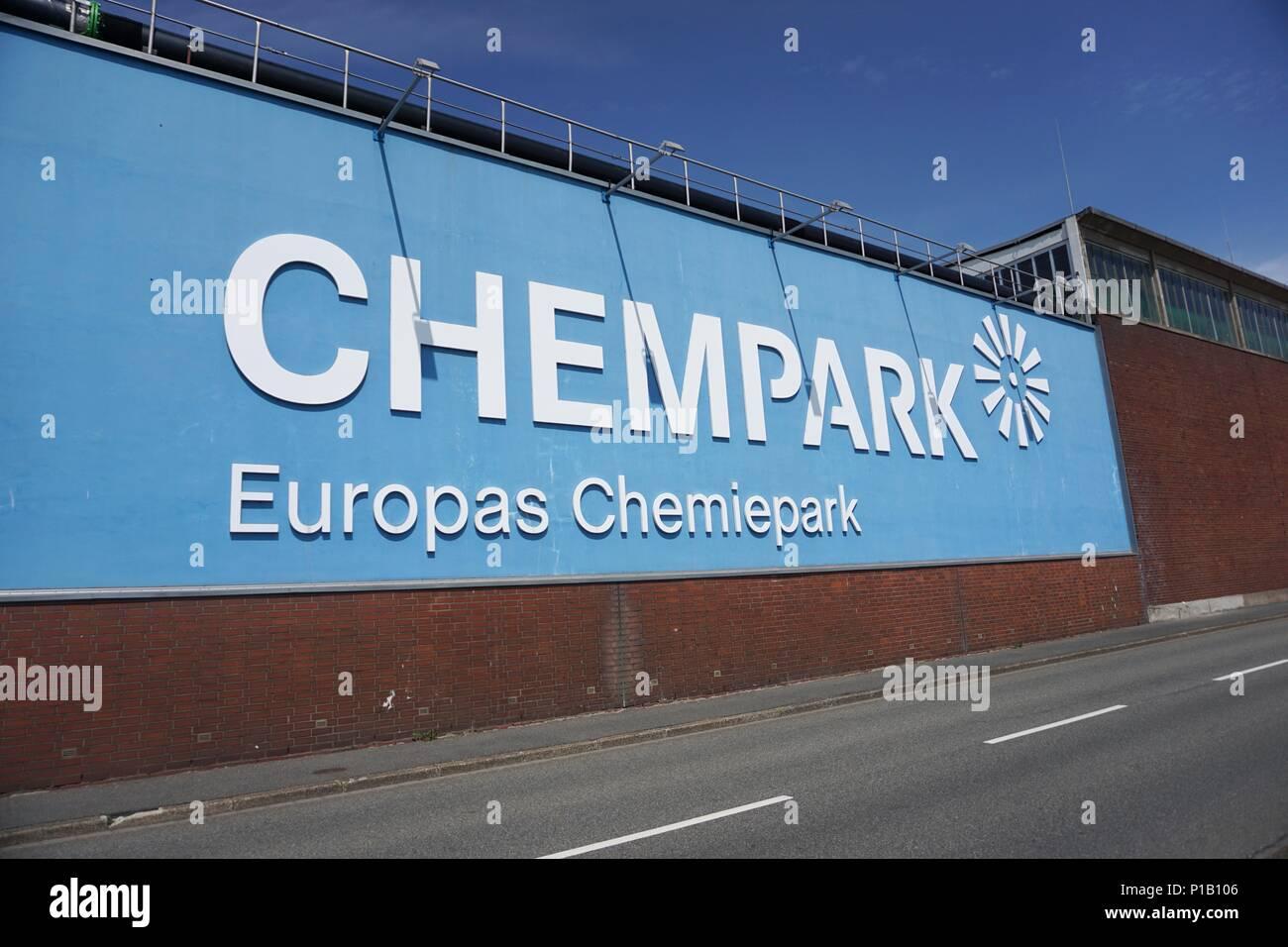 Chempark chemical industry in germany Krefeld Stock Photo