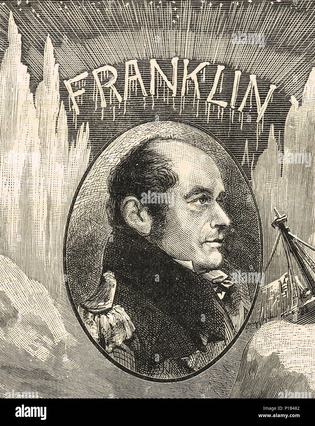 Sir John Franklin, Arctic explorer - Stock Image