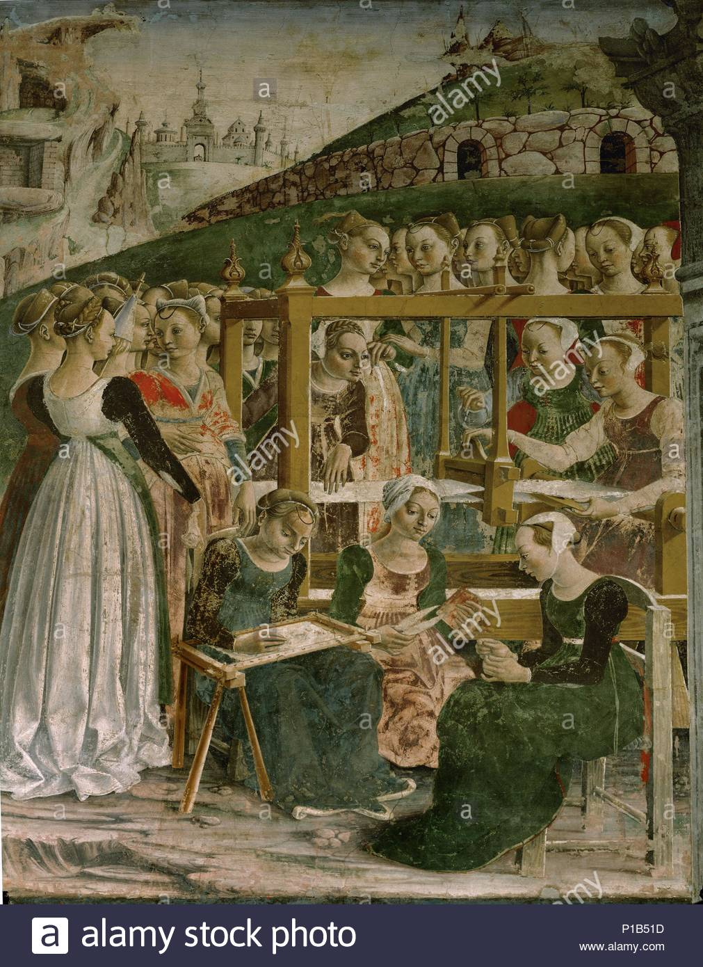 Fresco, top range, east wall (1476). Author: COSSA, FRANCESCO DEL.  Location: Palazzo Schifanoia, Ferrara, Italy.