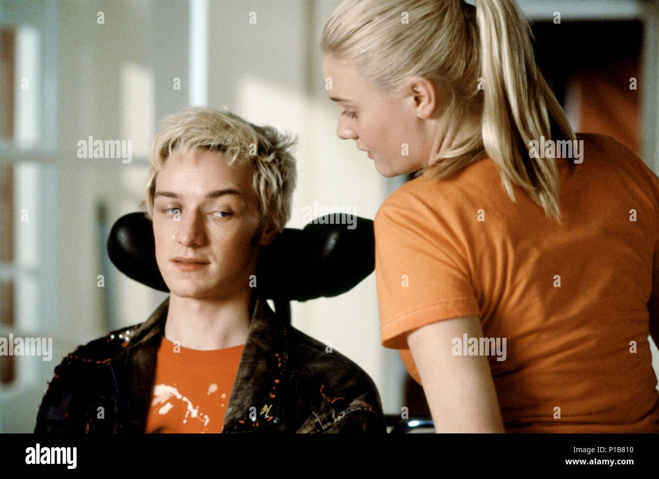 Original Film Title: INSIDE I'M DANCING.  English Title: RORY O'SHEA WAS HERE.  Film Director: DAMIEN O'DONNELL.  Year: 2004.  Stars: ROMOLA GARAI; JAMES MCAVOY. Credit: FOCUS FEATURES / Album - Stock Image