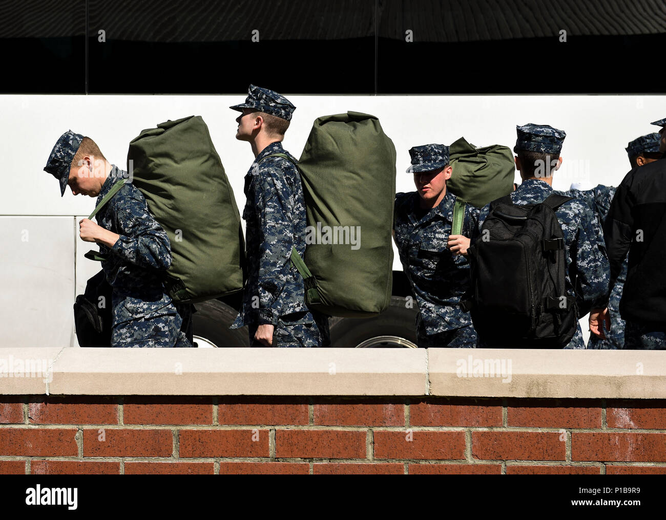 US Navy Sailor Students From The Naval Nuclear Power Training