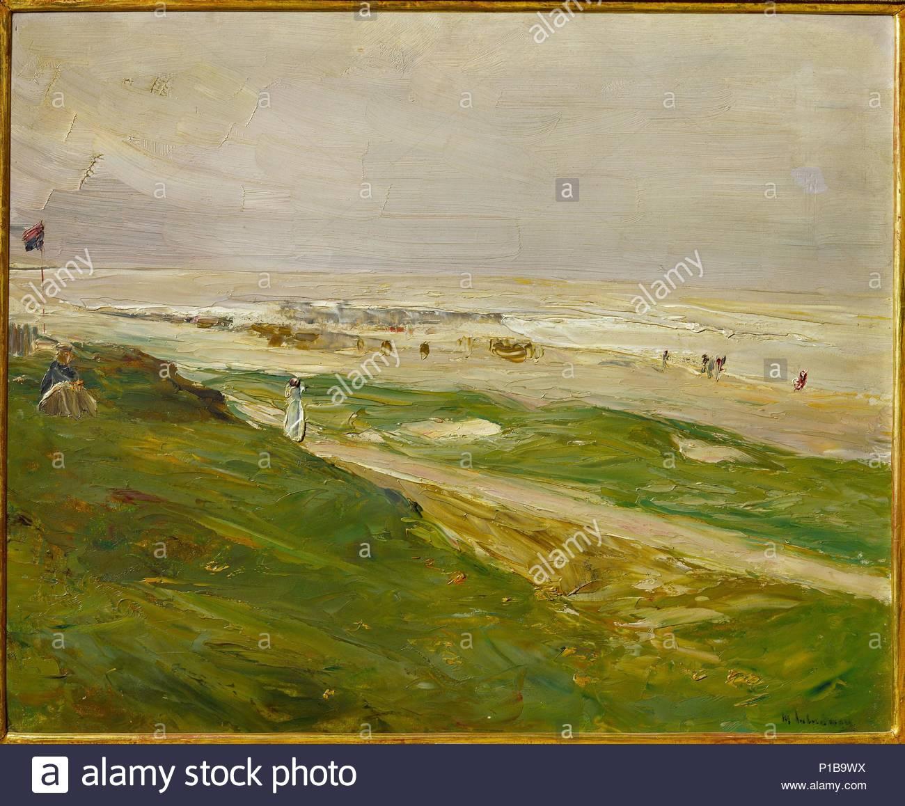 Dune in Noordwijk, Netherlands,1908 Cardboard, 37 x 46 cm Inv. B 74.702. Author: Max Liebermann (1847-1935). Location: Israel Museum, Jerusalem, Israel. - Stock Image