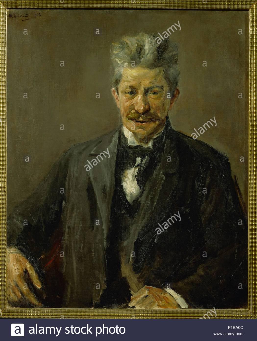 Portrait Georg Brandes, Danish art critic (1842-1927) 1902 Canvas, 82,5 x 66,5 cm Inv.336 1912 / 1. Author: Max Liebermann (1847-1935). Location: Kunsthalle, Bremen, Germany. - Stock Image