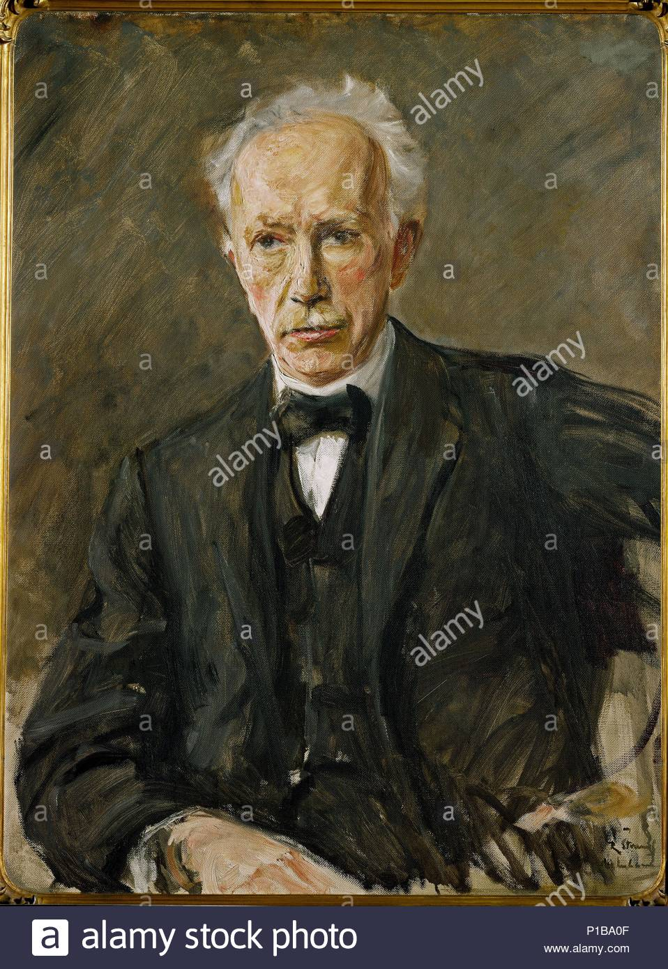 Portrait of composer Richard Strauss (1864-1949) Canvas, 90 x 65 cm Property of the Strauss-family. Author: Max Liebermann (1847-1935). Location: Private Collection,, Germany. - Stock Image