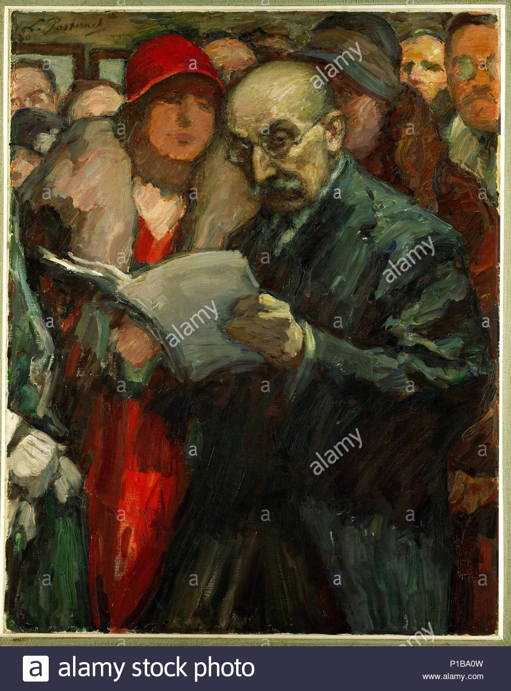 Painter Max Liebermann opens an exhibition at the Akademie in Berlin, of which he was president. 1930. Author: PASTERNAK, LEONID OSSIPOVITCH. Location: Haaretz Museum, Tel Aviv, Israel. - Stock Image