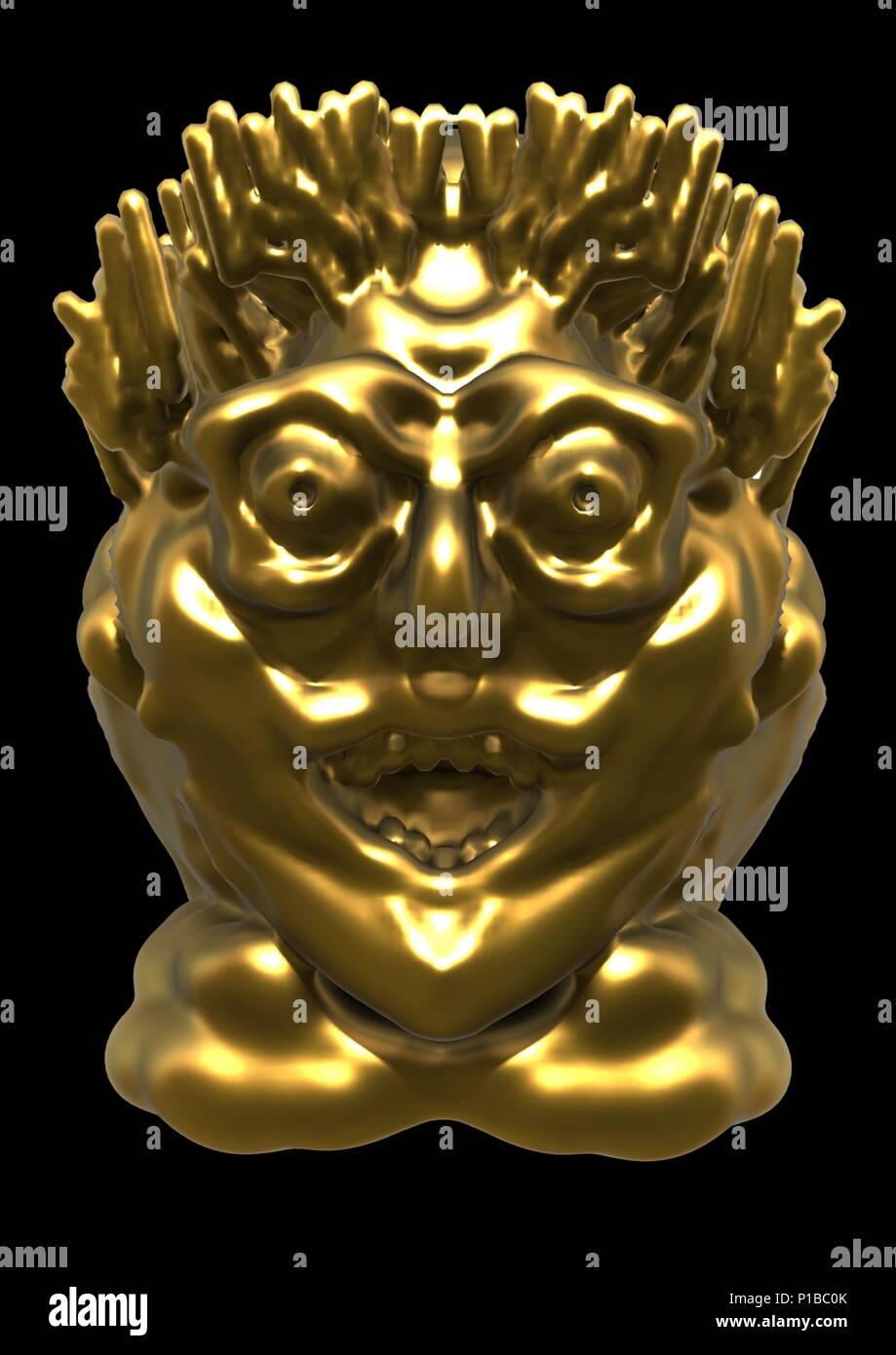 golden idol - Stock Image