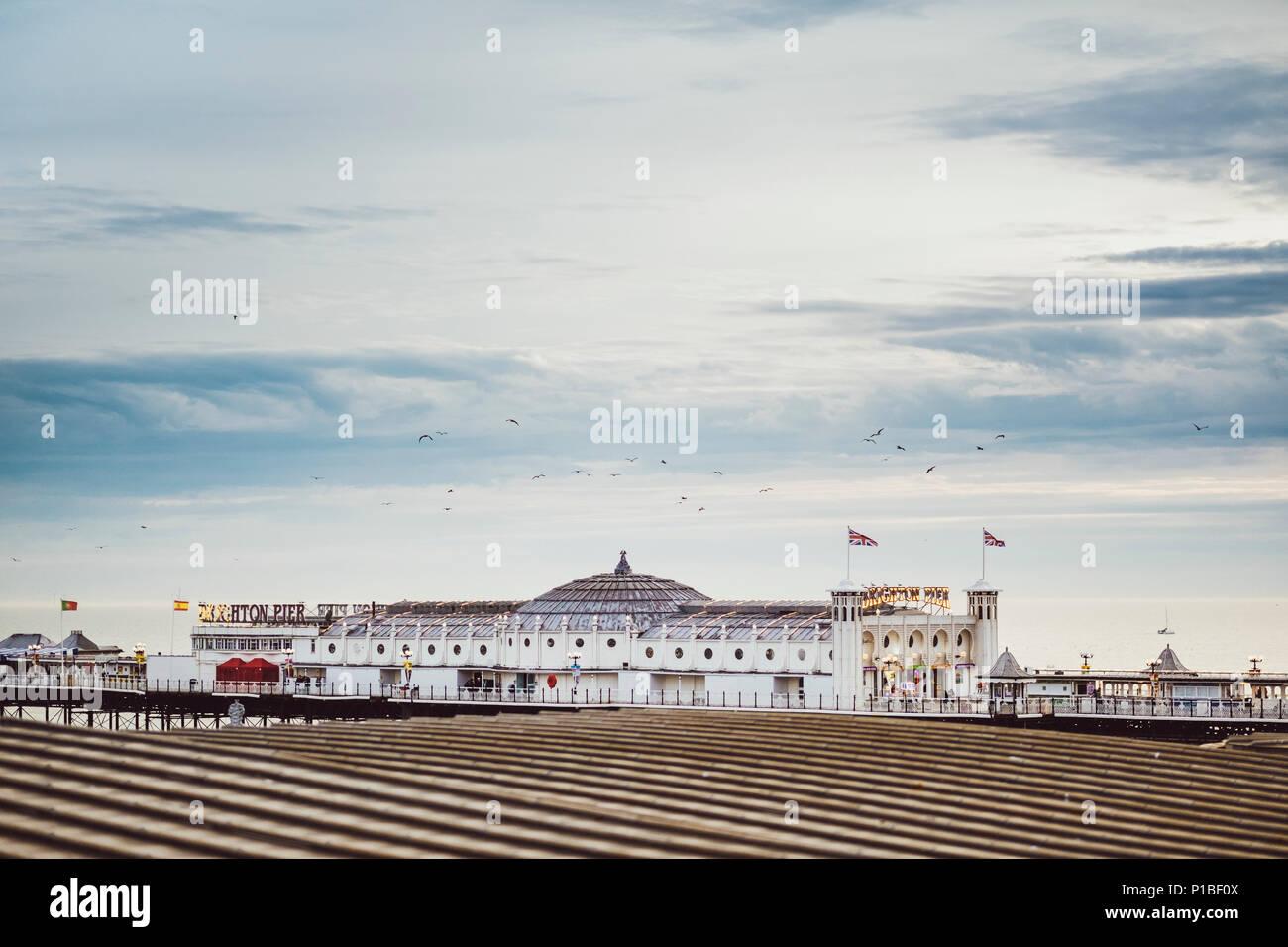 Brighton Pier, Brighton, England - Stock Image