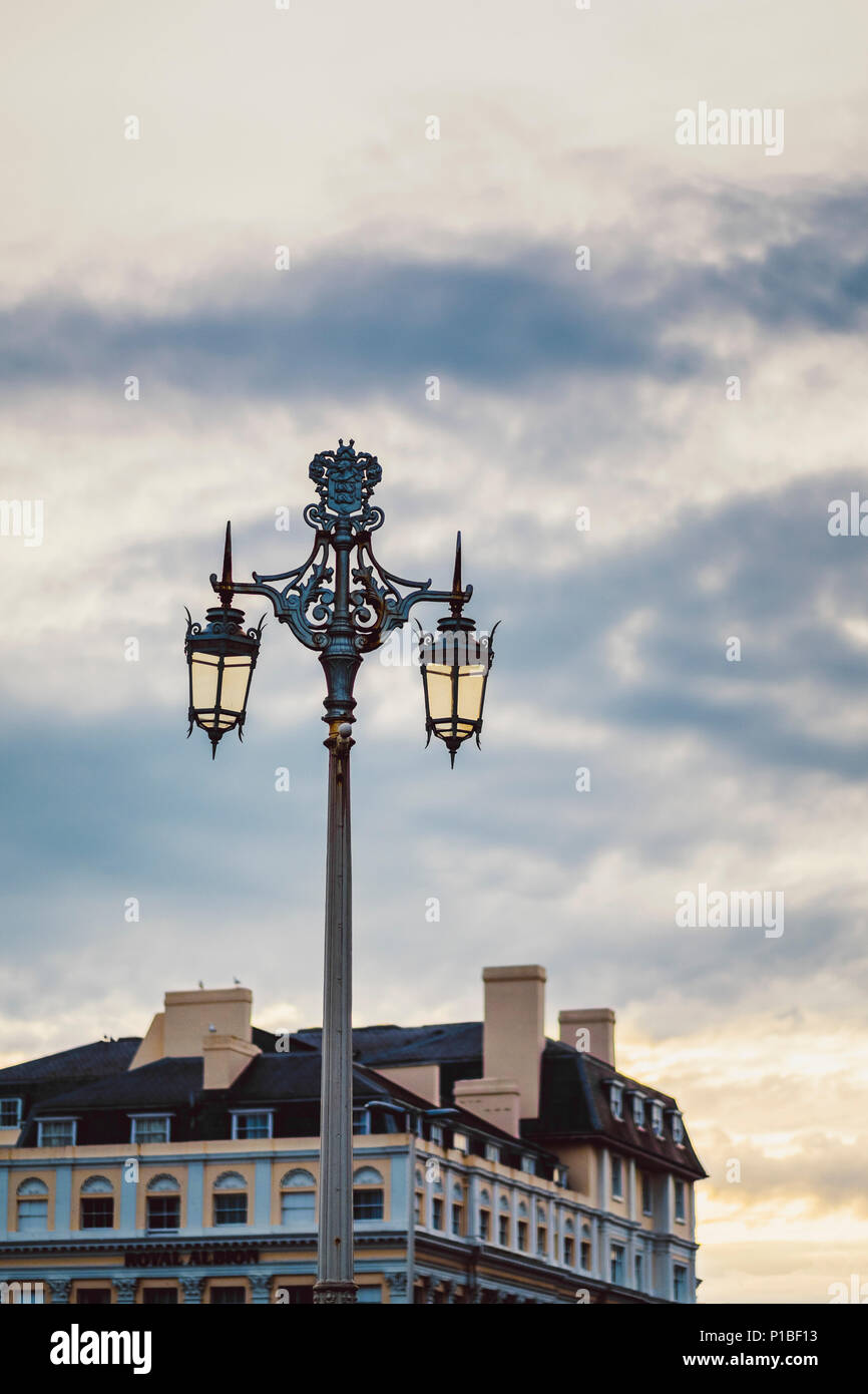 Old street lamp, Brighton, England - Stock Image