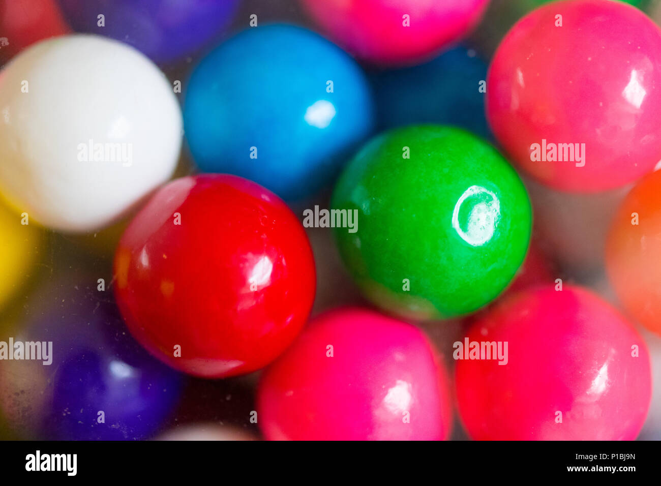 A lot of colorful candy close up - Stock Image