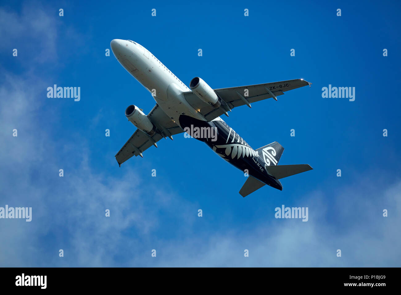 Air New Zealand Airbus A320-232, Wellington, North Island, New Zealand - Stock Image