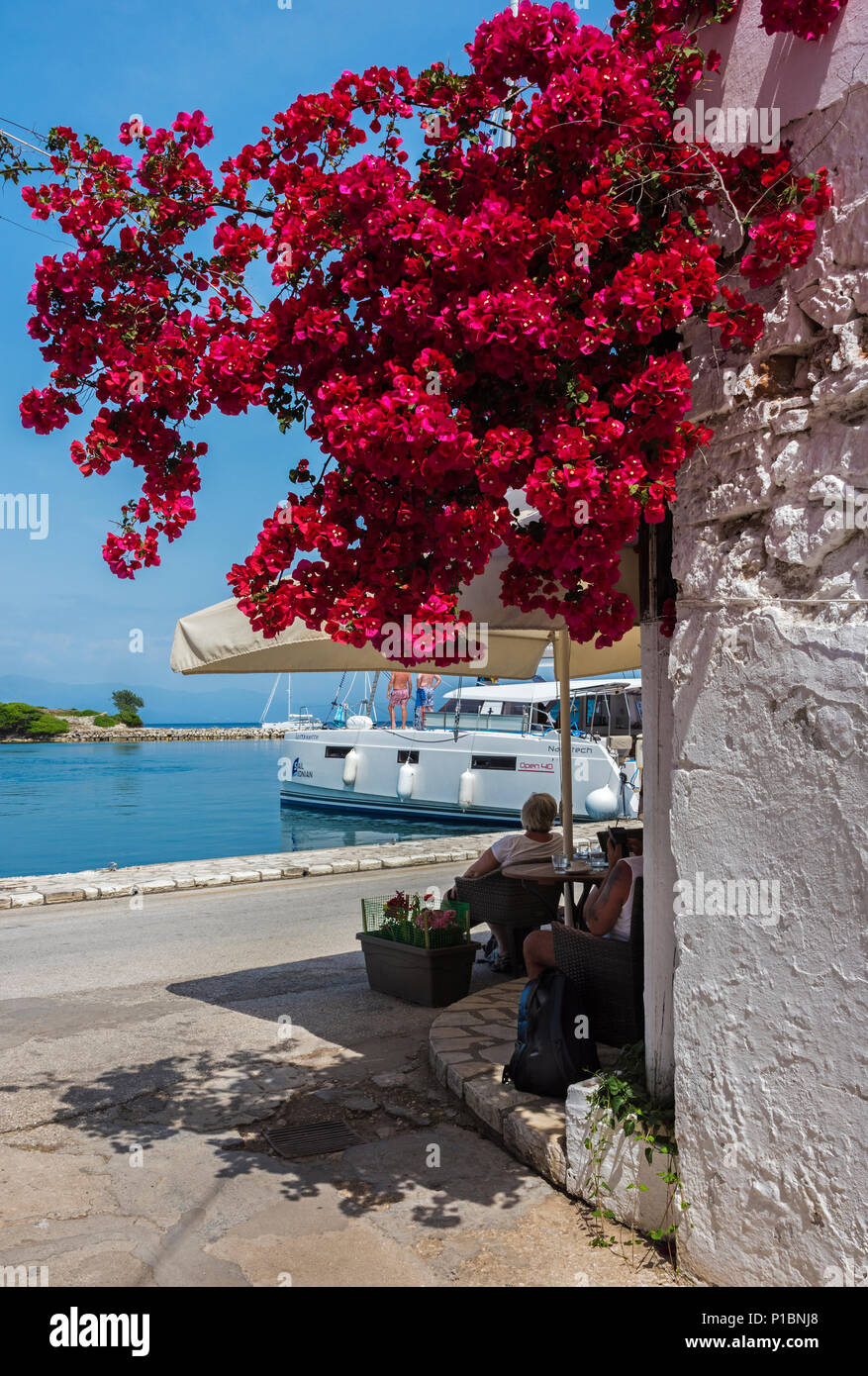 Gaios Harbour Front, Paxos. - Stock Image