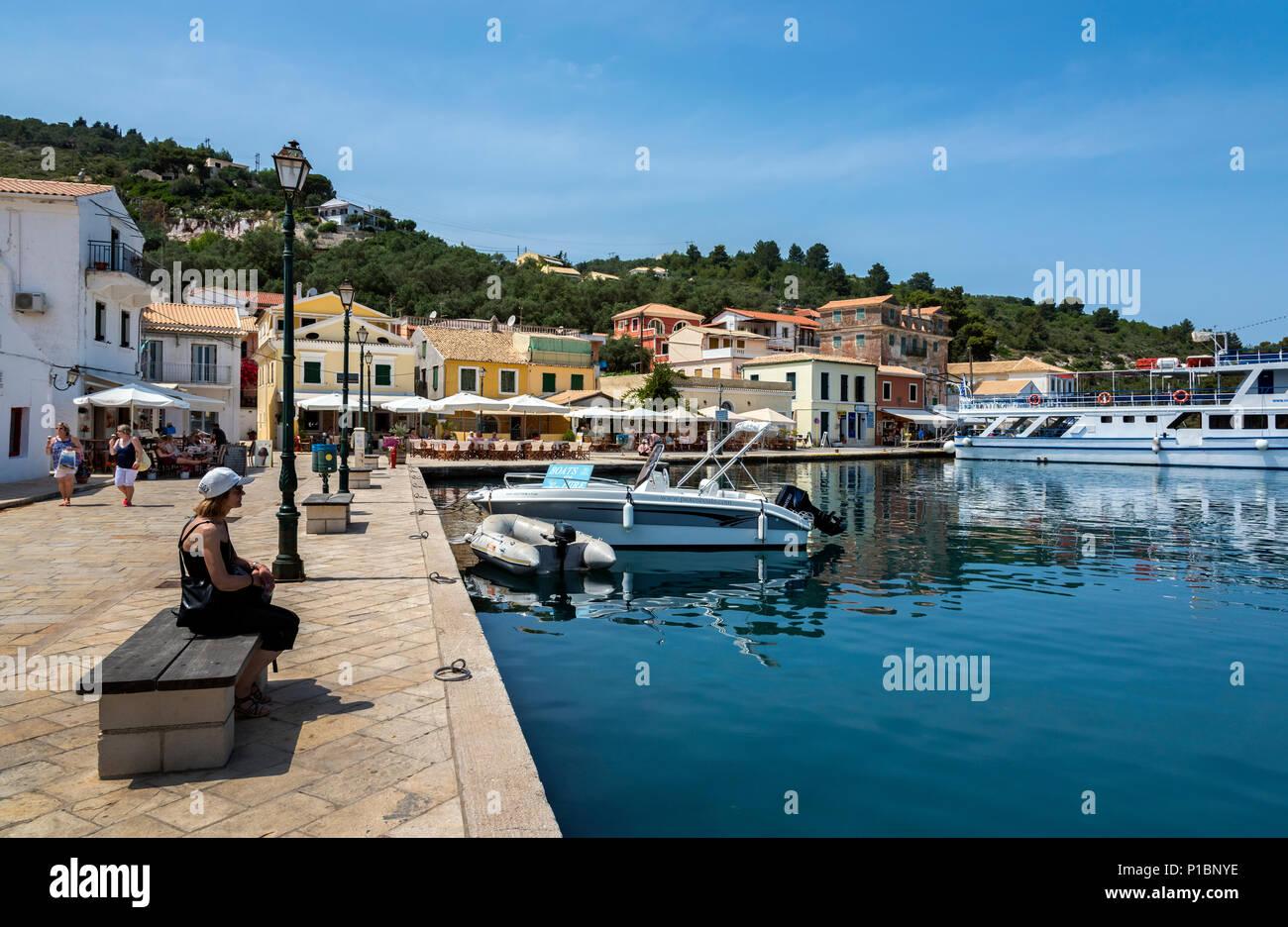 Gaios Harbour, Paxos. - Stock Image