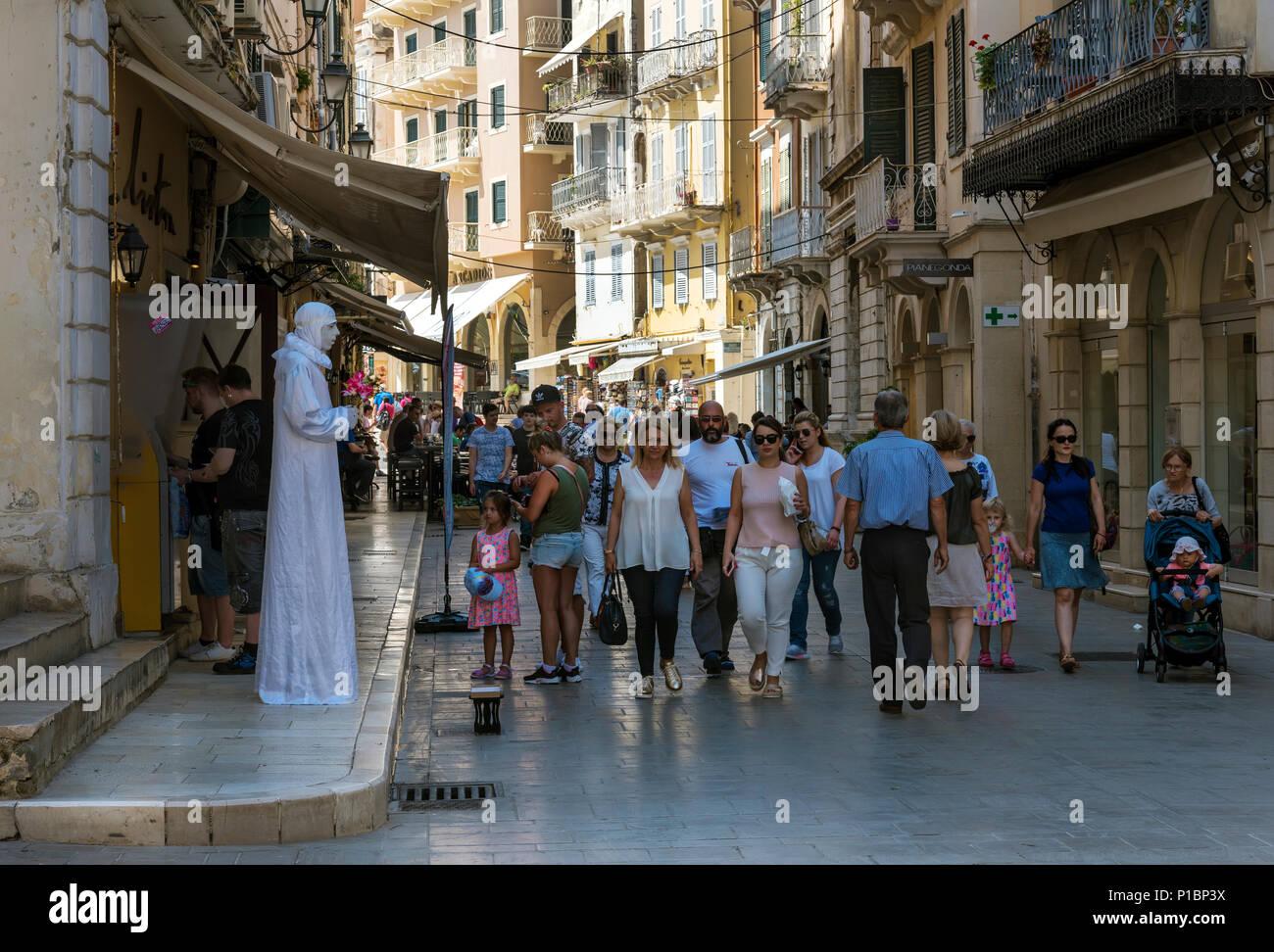 Street Beggar in Corfu Town. - Stock Image