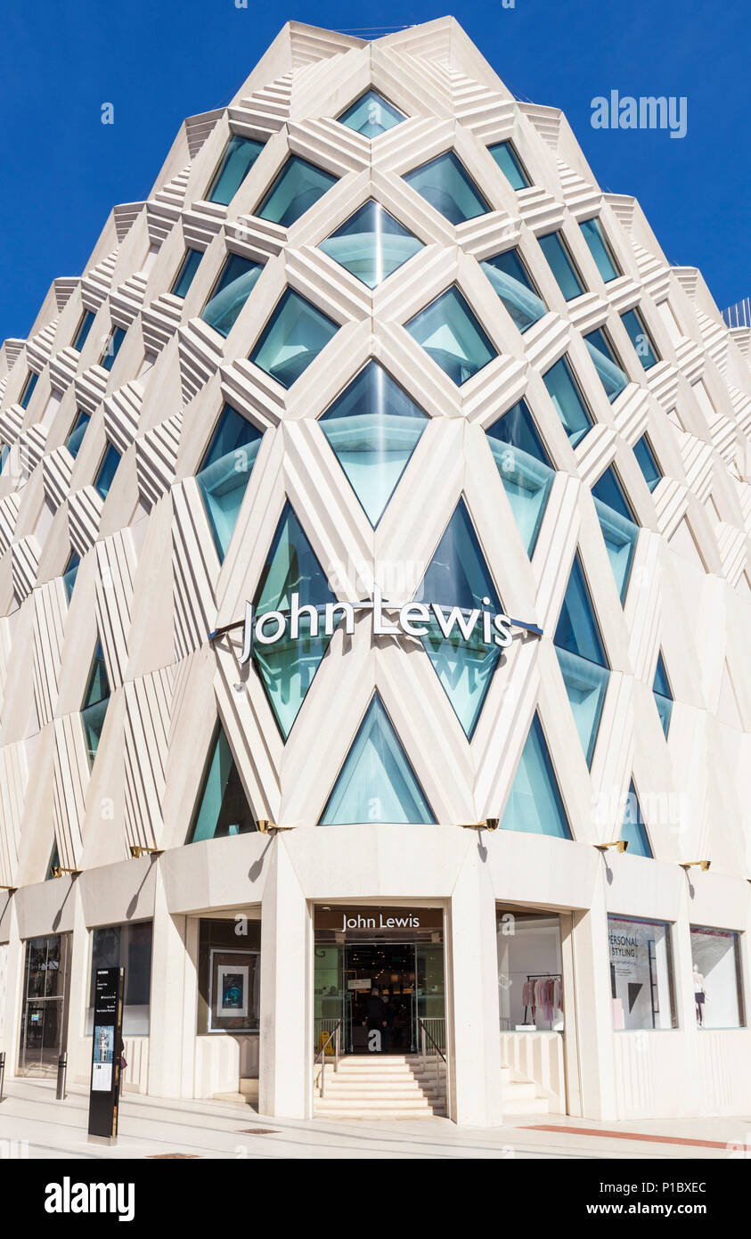 yorkshire england leeds yorkshire victoria leeds shopping centre  john lewis store uk high-end department store leeds uk england - Stock Image