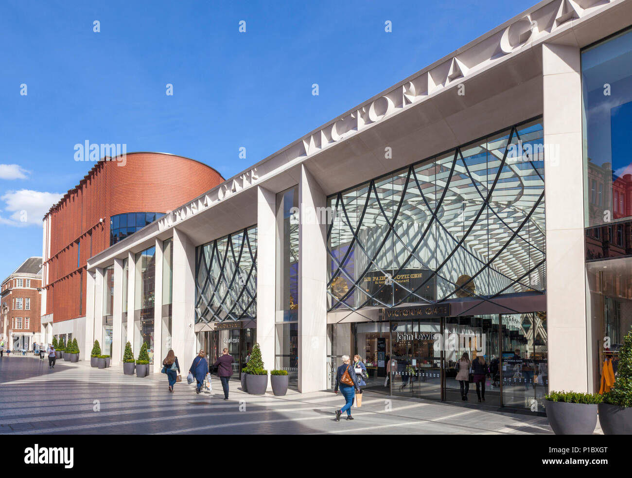 yorkshire england leeds yorkshire victoria leeds shopping centre victoria gate fashion designer shops high-end department store leeds uk england - Stock Image