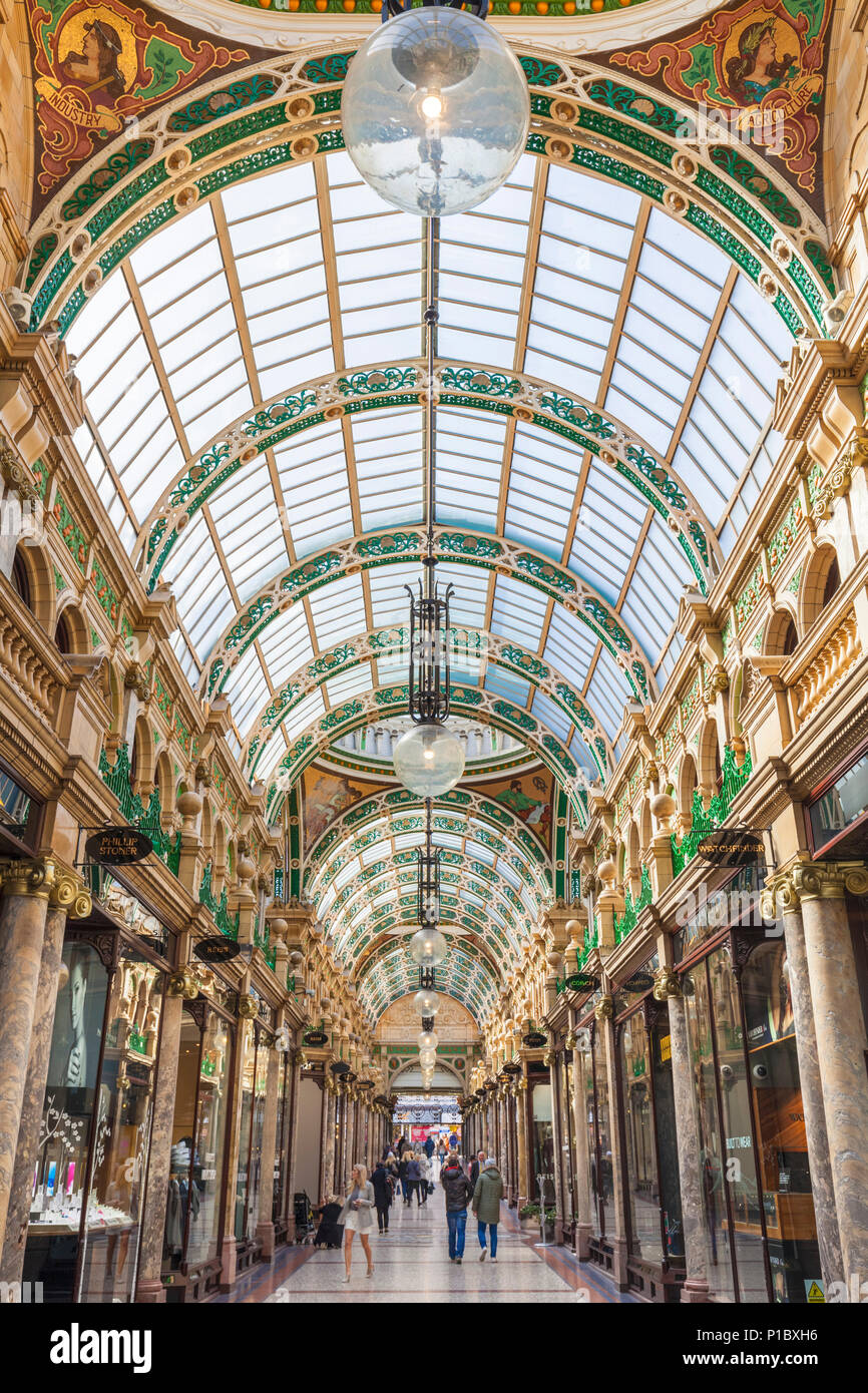 yorkshire Leeds yorkshire county arcade  shopping  Victoria Quarter Leeds City Centre Leeds West Yorkshire England UK GB EU Europe - Stock Image