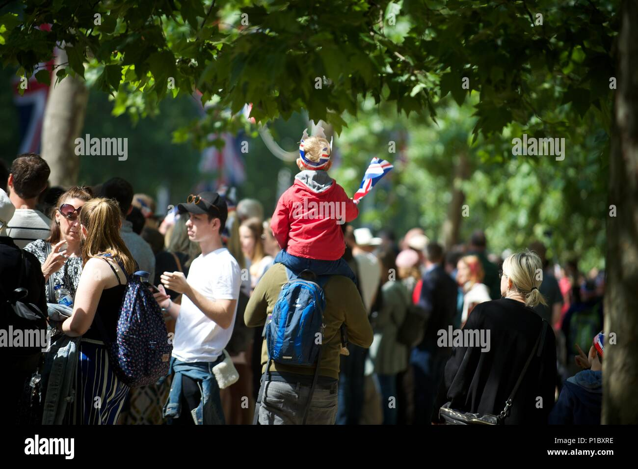 Queens 92nd birthday parade in London Stock Photo
