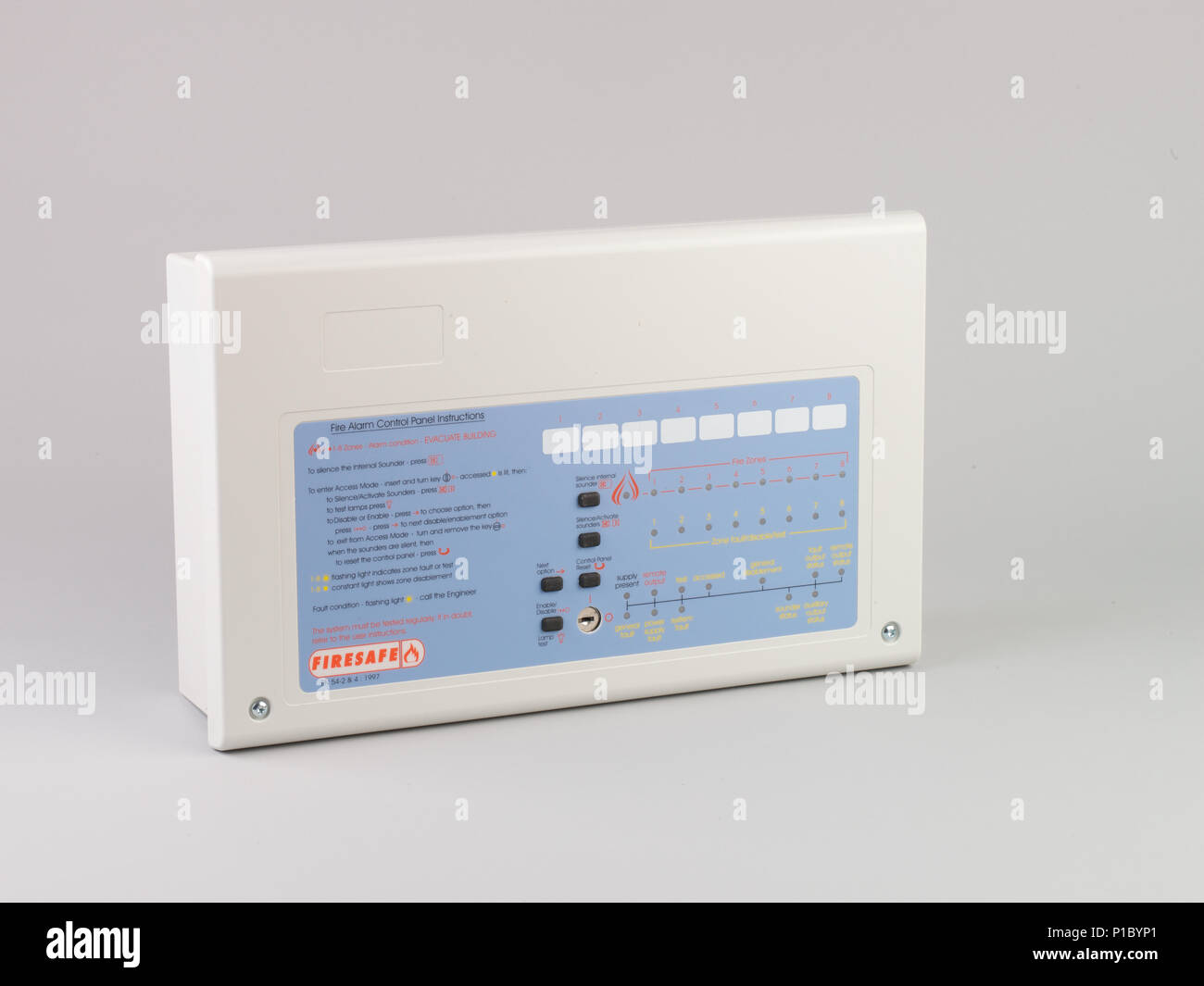 fire alarm and smoke detector equipment. Stock Photo