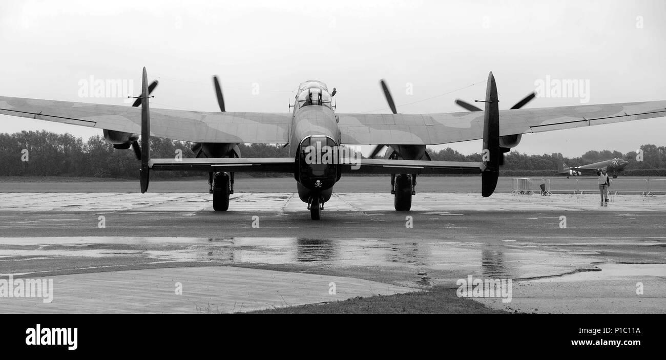 Avro Lancaster bomber - Stock Image