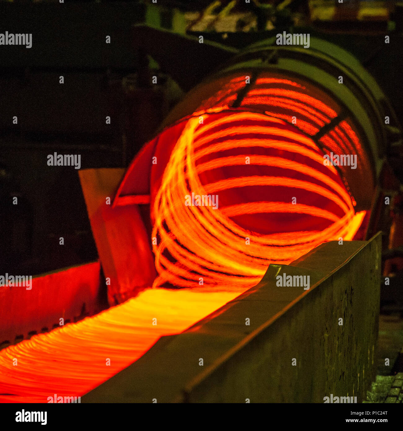 Iron Casting Works Stock Photos Images Wiring Telford Manufacturing Wire Steel And Metallurgical Plant Continuous Production
