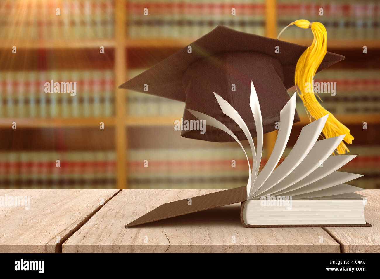 Composite image of mortar board - Stock Image