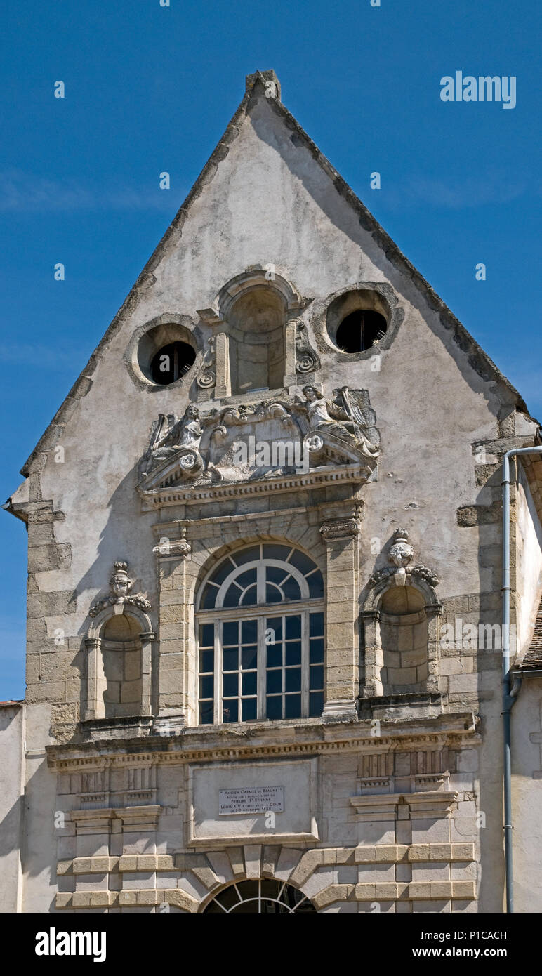 Ancien Carmel de Beaune France, the ancient convent of Carmelites built on the site of the Prioress St Etienne Louis XIV passed there in November 1658 Stock Photo