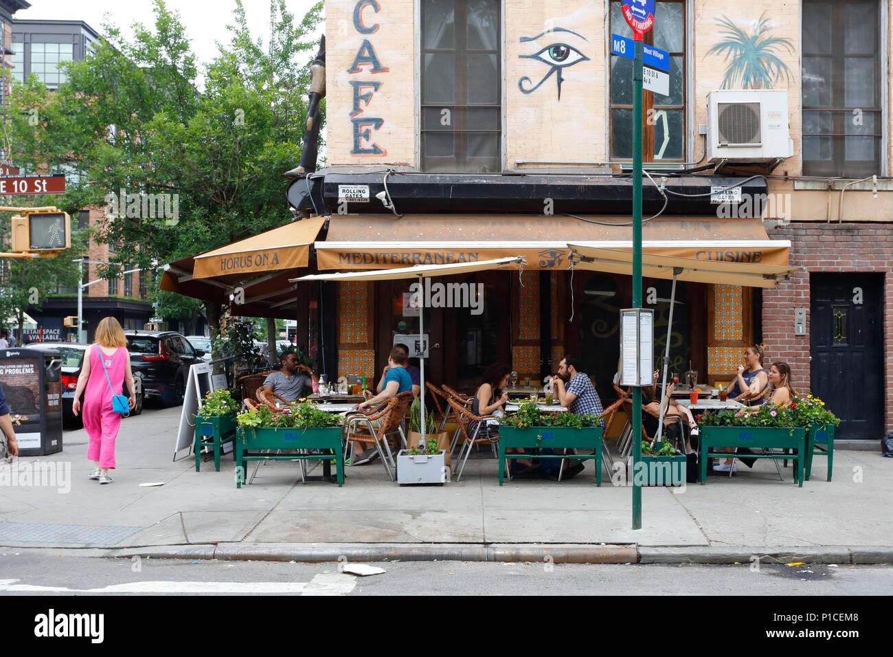 Horus Cafe on A, 293 E 10th St, New York, NY. - Stock Image