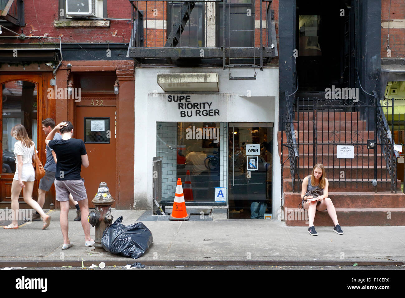 Superiority Burger, 430 E 9th St, New York, NY - Stock Image