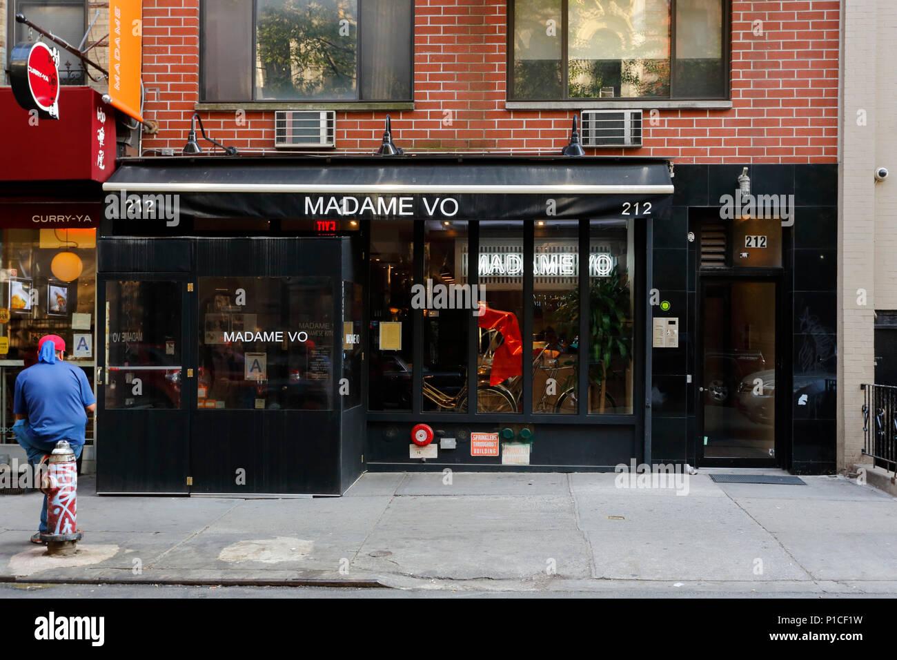 Madame Vo, 212 E 10th St, New York, NY - Stock Image