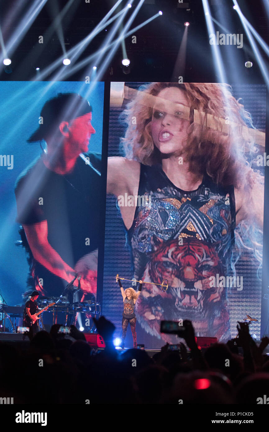 London, United Kingdom. 11 June, 2018.Shakira performs in London, United Kingdom. Credit: Brayan Lopez/Alamy Live News. Stock Photo