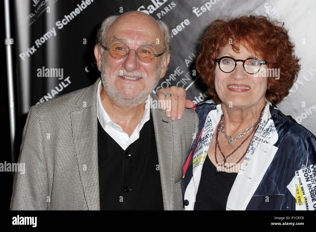 Andréa Ferréol paris, france. 11th june, 2018. frederic vidal and andréa