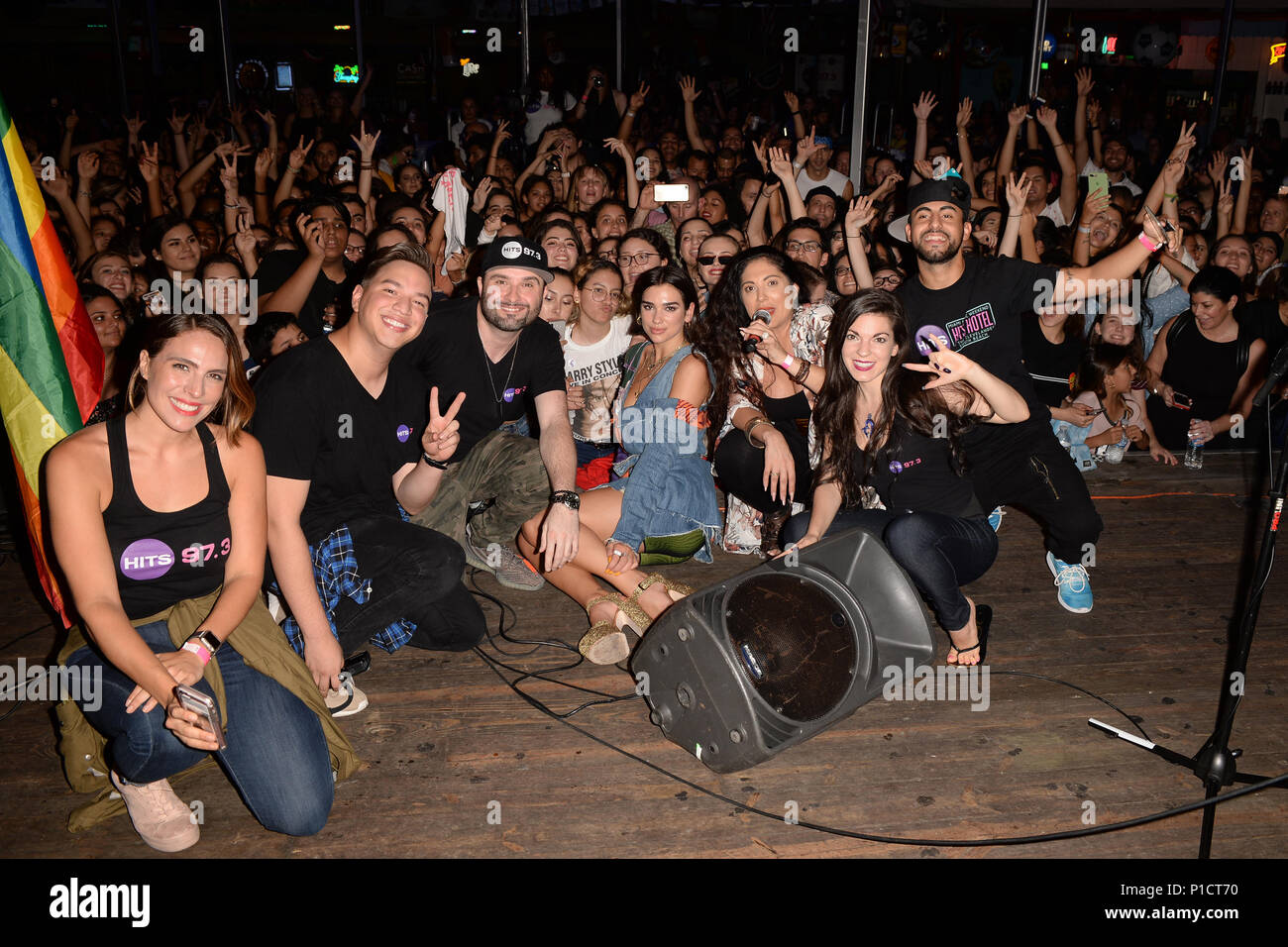 Dua Lipa Pictured During Hits 97.3 Sessions At Americau0027s Backyard On June  11, 2018 In Fort Lauderdale, Florida. Credit: Mpi04/Media Punch/Alamy Live  News